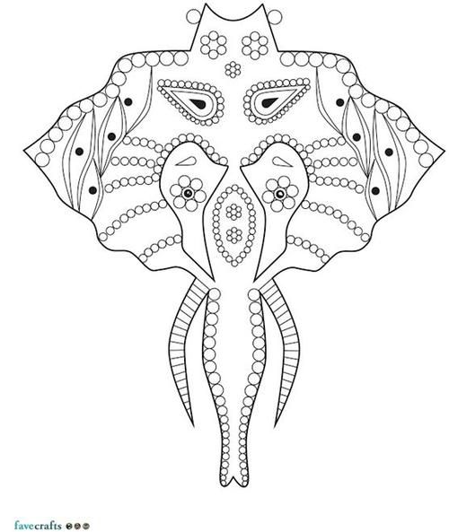 Intricate Elephant Coloring Page
