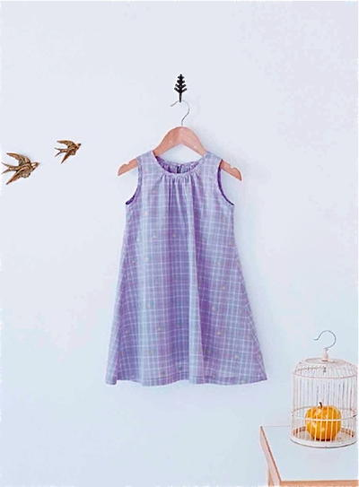 A-Line Sleeveless Dress for Girls