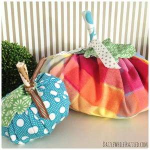 Make Fun Fall Fabric Pumpkins with Your Scraps