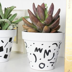 Dotty DIY Flower Pots