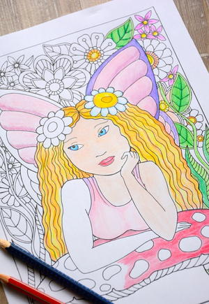 Enchanting Fairy Coloring Page
