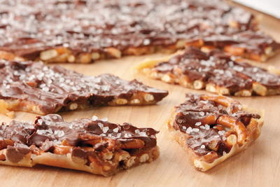 Salted Chocolate Pretzel Toffee