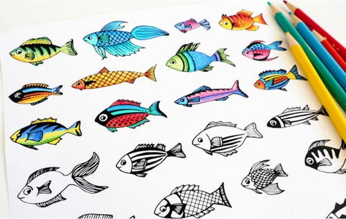 Funky Fish Coloring Page