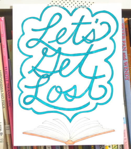 Lets Get Lost Coloring Page