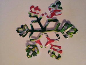 Soda Can Snowflake Ornament