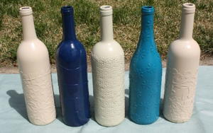 Easy Decoupage Wine Bottles
