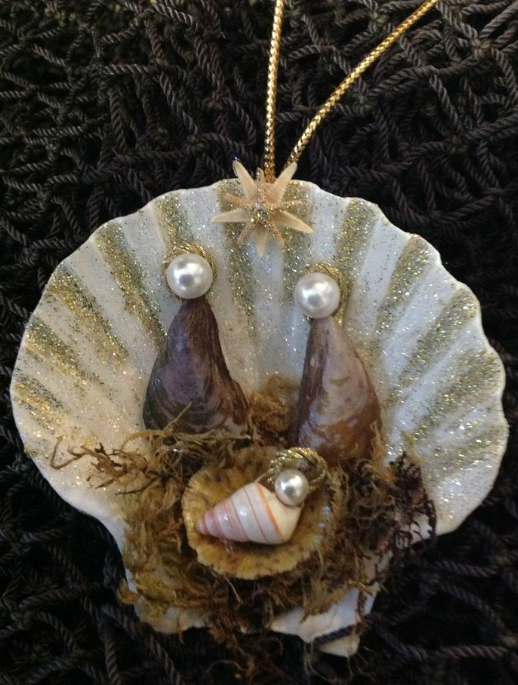 Shell of Hope Nativity Christmas Ornament