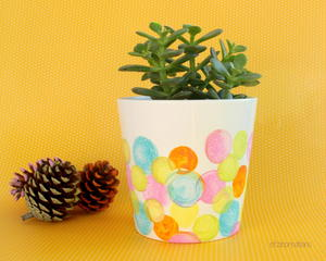 DIY Dot Painted Planter