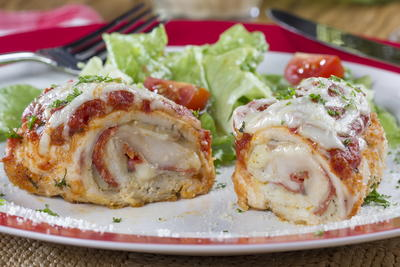 Pepperoni Chicken Rolls