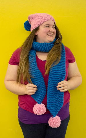 Fun and Simple Chunky Knit Scarf