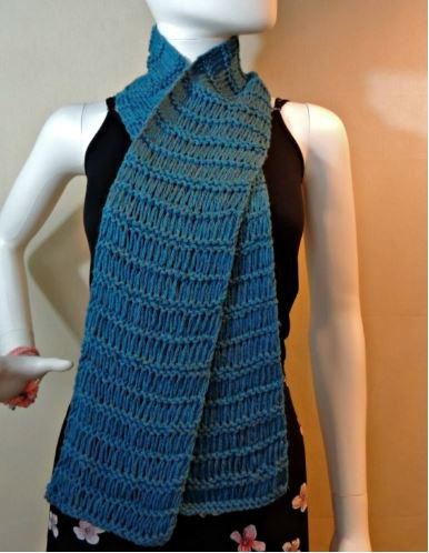 Simple Drop Stitch Scarf