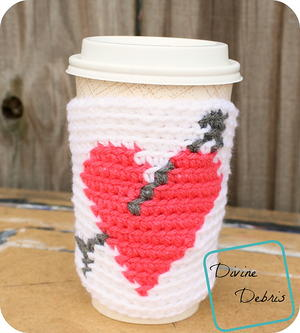 Heart Coffee Cozy