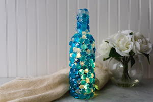 Twinkling Lights Wine Bottle Craft