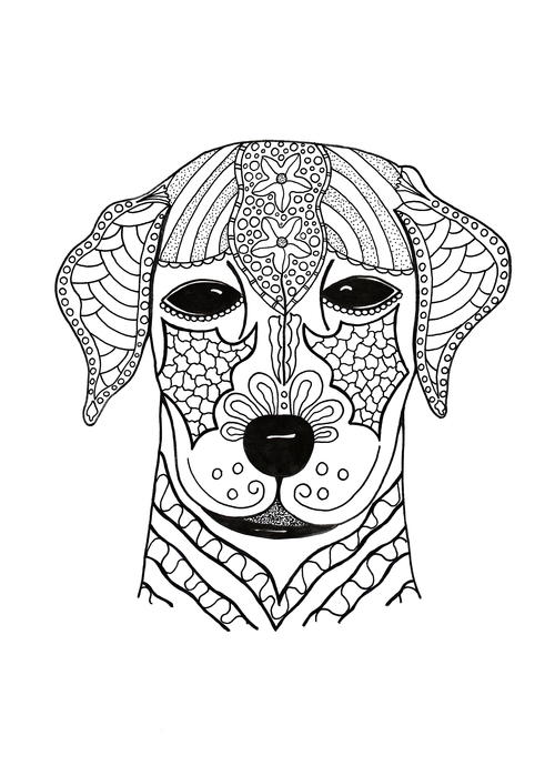 I Woof You Adult Coloring Page