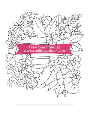 Easy Flower Coloring Page