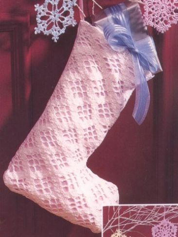 Lacy Crochet Stocking