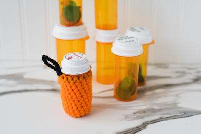 Crochet Pill Bottle Cozy Pattern