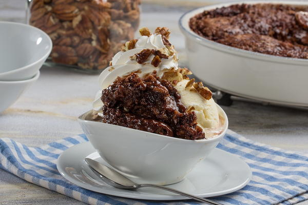 Chocolate Pecan Cobbler