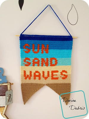 Sun, Sand, and Waves Wall Hanging