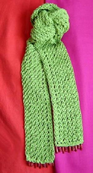 A Green Lace Scarf