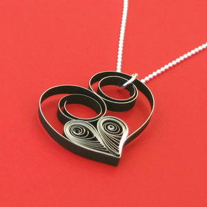 Quilled Heart Necklace