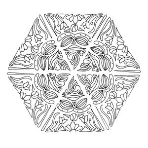 Mandala Magic Adult Coloring Page