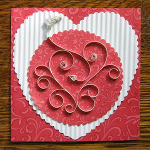 Quilled Heart Card