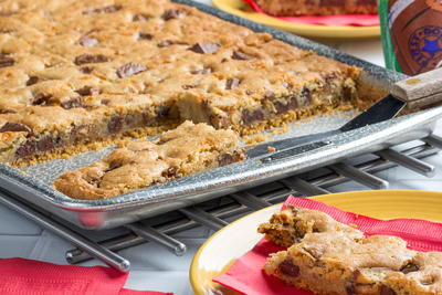 Candy Bar Slab Cookies