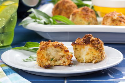 Not-Fried Chicken Cheese Balls