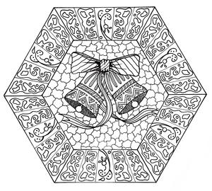 Jingle Bells Mandala Coloring Page
