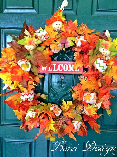 Easy DIY Dollar Store Fall Welcome Wreath Tutorial