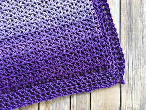 Easy Ombre Baby Blanket