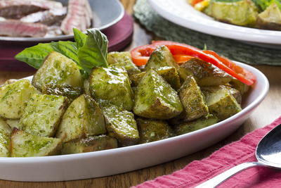 Perfect Pesto Potatoes