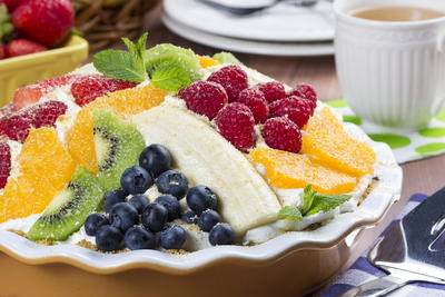 Fruit Medley Cream Pie