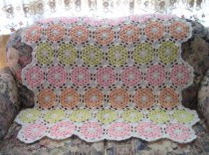 Pastel Lacy Shells Afghan