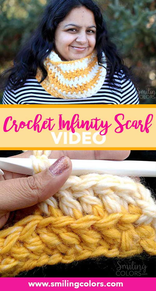 Easy Double Crochet Scarf