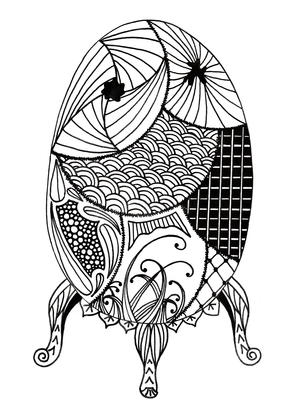 Easter Egg Deluxe Adult Coloring Page