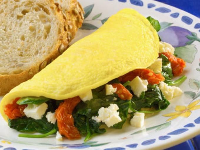 Overstuffed Mediterranean Omelet