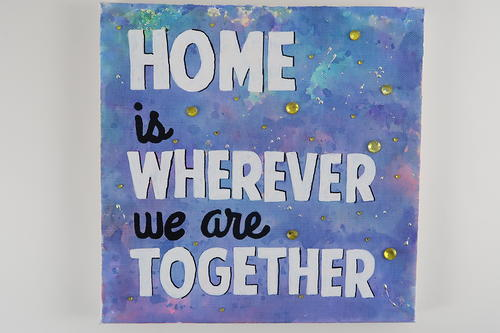 Watercolor Marker DIY Quote Canvas