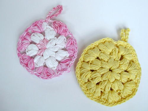Spring College Care Package & Crochet Shower Pouf Pattern