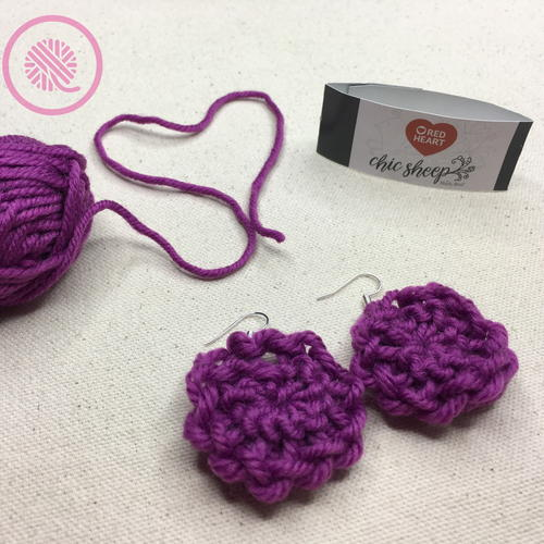 Easy Loom Knit Flower Earrings