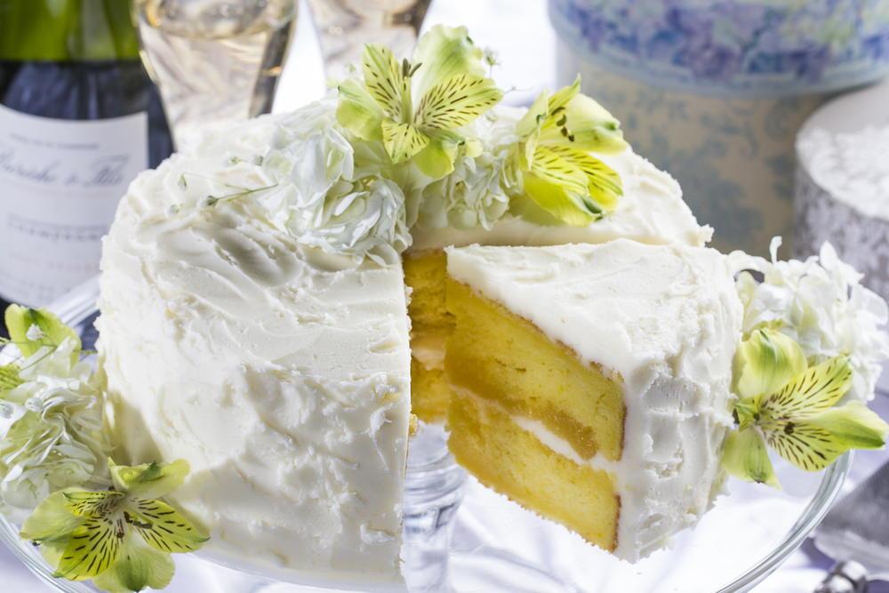 Lemon Wedding Cake | MrFood.com