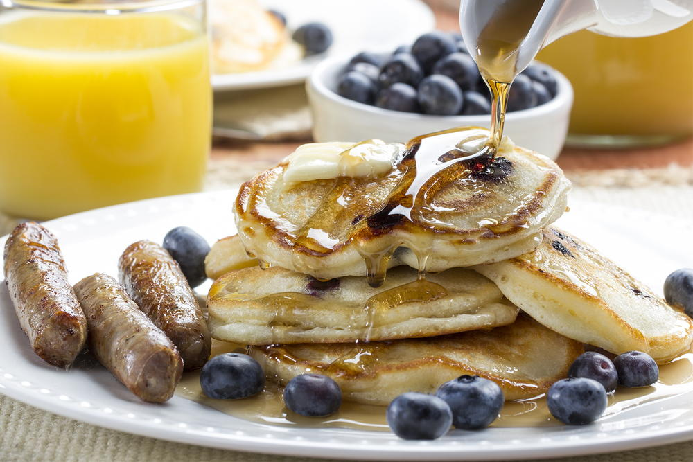 Blueberry cream cheese pancakes mrfood forumfinder Images