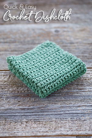 Quick and Easy Crochet Dishcloth Pattern
