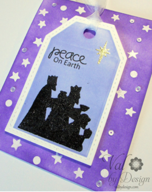 Peace on Earth Card Stamping Idea