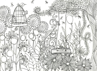 Magical Flower Garden Coloring Page