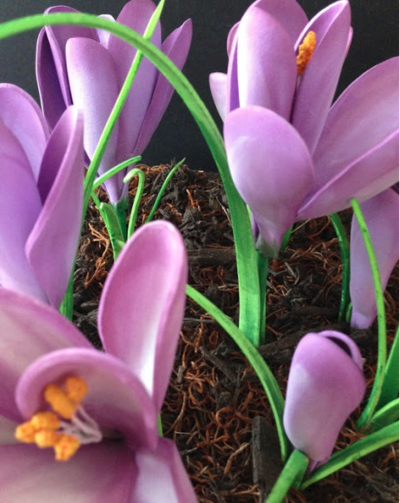 Handmade Beautiful Foam Crocus Flowers