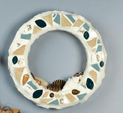 Seashell Mosaic Wreath