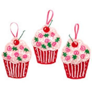 Yummy Cupcake Ornaments