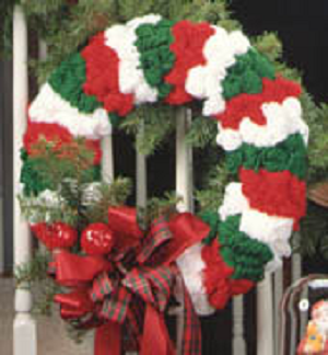 Easy Yarn Christmas Wreath